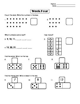First Grade Number Sense Week 4