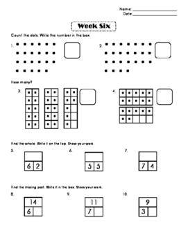 First Grade Number Sense Week 6
