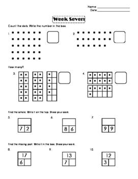 First Grade Number Sense Week 7