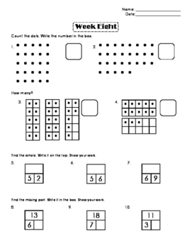 First Grade Number Sense Week 8