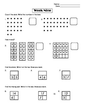 First Grade Number Sense Week 9