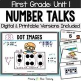 First Grade Number Talks - Unit 1 (September) DIGITAL and Printable
