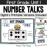 First Grade Number Talks Unit 1 for Classroom and DISTANCE LEARNING