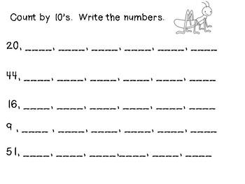 First Grade Number Work