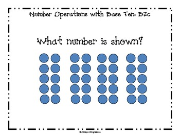 First Grade- Number and Operations in Base Ten Daily Math Questions