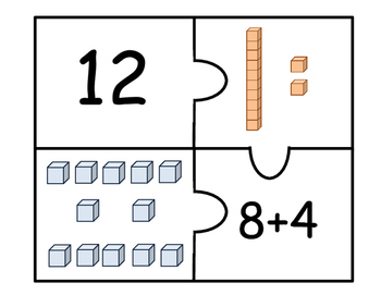 First Grade Number and Place Value Puzzle (11-20)