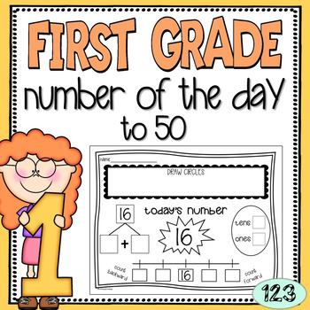 First Grade Number of the Day Worksheets {NO PREP!} Packet