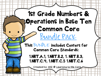 First Grade Numbers and Operations Bundle Pack