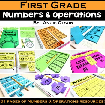 1st Grade Math Notebook:  Numbers and Operations
