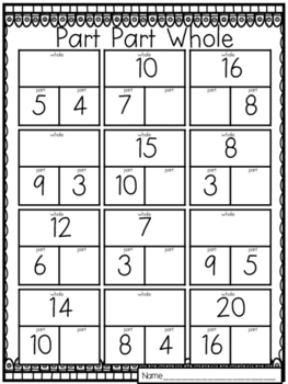 First Grade Numbers and Operations Packet