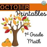 First Grade October Math