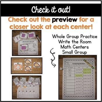 First Grade October Math Centers