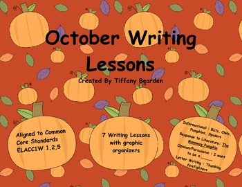 First Grade Writing Lessons for October