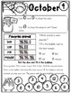First Grade October/Halloween Math and Literacy worksheets