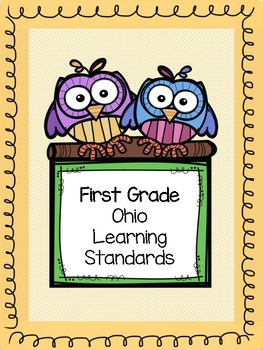 First Grade Ohio Learning Standards