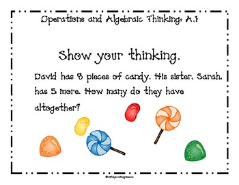 First Grade Operations and Algebraic Thinking Daily Math Questions