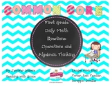 First Grade Operations and Algebraic Thinking Daily Math Q