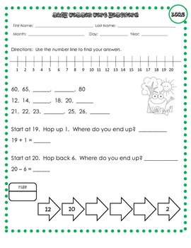 First Grade Math Practice (1st Gr. Common Core Operations & Algebraic Thinking)