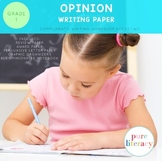 First Grade Opinion Writing Paper Pack