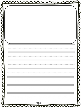 First Grade Opinion Writing Paper Template Lucy Calkins By