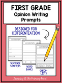 First Grade Opinion Writing Prompts For Differentiation