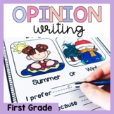 First Grade Opinion Writing Prompts/Worksheets