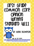First Grade Opinion Writing Standards