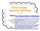 First Grade Opinion Writing Unit