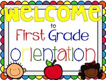 First Grade Orientation Presentation