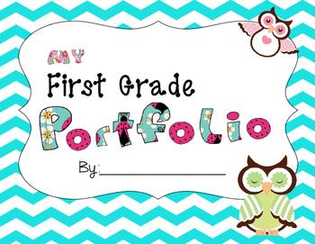 First Grade Owl Portfolios