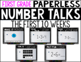 First Grade PAPERLESS NUMBER TALKS- The First 10 Weeks