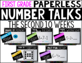 First Grade PAPERLESS NUMBER TALKS- The Second 10 Weeks
