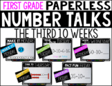First Grade PAPERLESS NUMBER TALKS- The Third 10 Weeks
