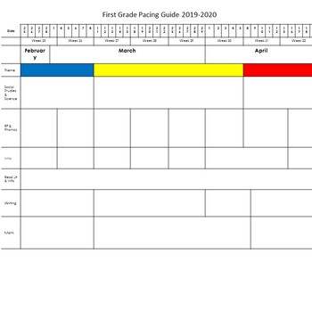 Pacing guide template high school first grade pacing guide and templates ppt by work smarter maxwellsz