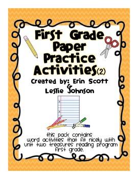 First Grade Paper Practice Activities (2)