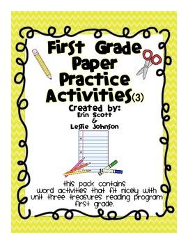 First Grade Paper Practice Activities (3)