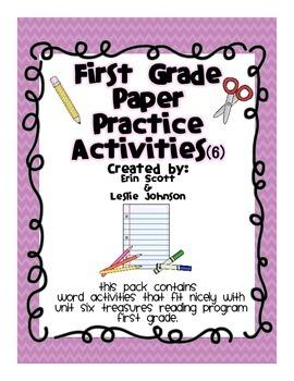 First Grade Paper Practice Activities (6)