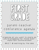 First Grade Parent-Teacher Conference Agenda