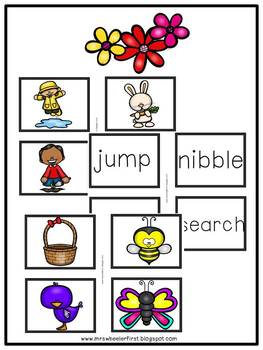 First Grade Language: Spring Parts of Speech Sort