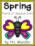First Grade Language: Spring Parts of Speech Sort