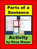 Parts of a Sentence Activity