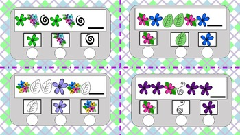 First Grade Patterns Practice--Poke Cards!