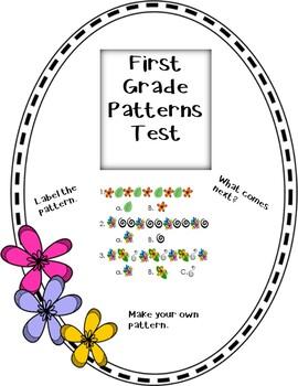 First Grade Patterns Test--FREEBIE!