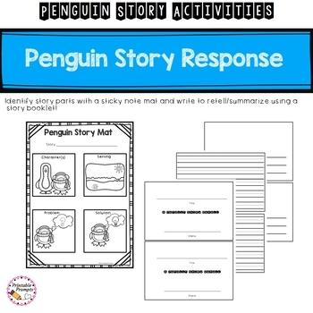 First Grade Penguin Activities Bundle