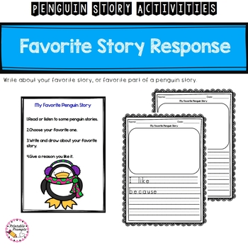 First Grade Penguin Story Activities