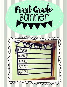First Grade Pennant Banner