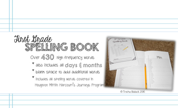 First Grade Personal Journeys Spelling Book