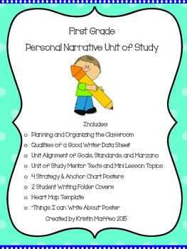 First Grade Personal Narrative Unit of Study