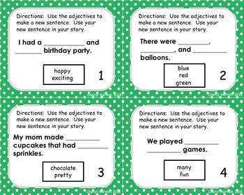 First Grade Personal Narrative Writing Paper and Task Cards