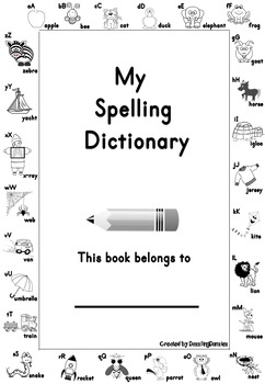 First Grade Personal Spelling Dictionary